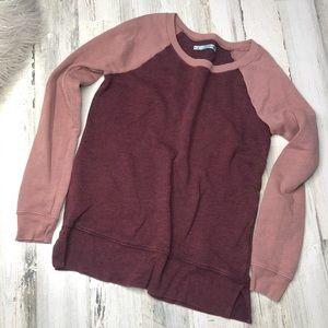 Maurices Pink Sweater Size Medium Maroon